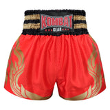 Kombat Gear Muay Thai Boxing shorts Red Star Pattern With Gold Thai Tattoo