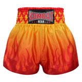 Kombat Gear Muay Thai Boxing shorts Orange Red Fire KBT-MS002-18