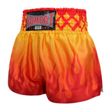 Kombat Gear Muay Thai Boxing shorts Orange Red Fire