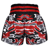 Kombat Muay Thai Boxing Red Black Grey Camouflage