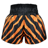 Kombat Muay Thai Boxing Shorts Zebra Pattern Orange Black