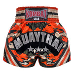Kombat Muay Thai Boxing Camouglage Shorts Orange Green With Stripe