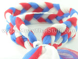 KOMBAT GEAR MuayThai Prajioud (Arm Bands) White Red Blue