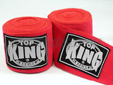 Top King Muay Thai Hand Wraps Red TKHWR01
