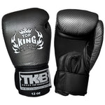 TOP KING Boxing Gloves Empower Creativity Black With Silver Kevlar Printed TKBGEM02