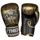 Top King Gloves Velcro Fancy Super Snake Black With Gold TKBGSS02