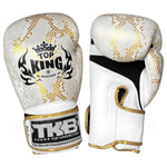 Top King Gloves Velcro Fancy Super Snake White With Gold TKBGSS02