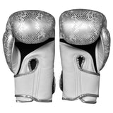 Top King Gloves Velcro Fancy Super Snake White With Silver TKBGSS02