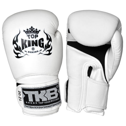 "TOP KING Boxing Gloves Super ""AIR"" White TKBGSA"