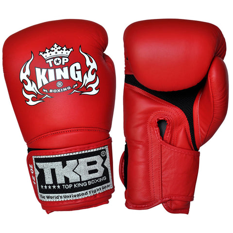 "TOP KING Boxing Gloves Super ""AIR"" Red TKBGSA"