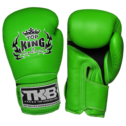 "TOP KING Boxing Gloves Super ""AIR"" Green TKBGSA"