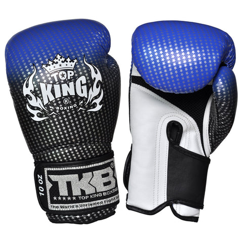"TOP KING Boxing Gloves ""Air"" Blue Super Star Printed TKBGSS01"