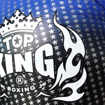 "TOP KING Boxing Gloves ""Air"" Blue Superstar Printed TKBGSS01"