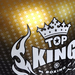 "TOP KING Boxing Gloves ""Air"" Gold Super Star Printed TKBGSS01"