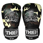 TOP KING Boxing Gloves Green Camouflage TKBGEM03