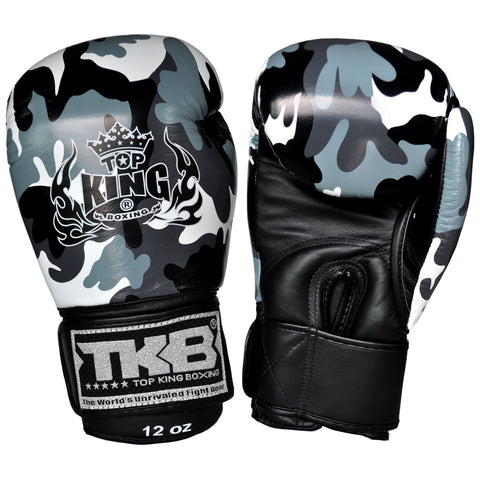 TOP KING Boxing Gloves Grey Camouflage TKBGEM03
