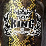 "Top King Shin Guards Fancy ""Super Snake"" Black Gold TKSGSS02"