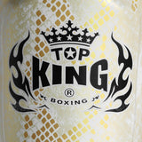 "Top King Shin Guards Fancy ""Super Snake"" White Gold TKSGSS02"