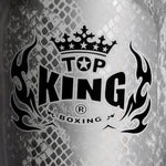 "Top King Shin Guards Fancy ""Super Snake"" White Silver TKSGSS02"