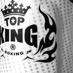 "TOP KING Shin Guards ""Super Star"" Silver TKSGSS01"