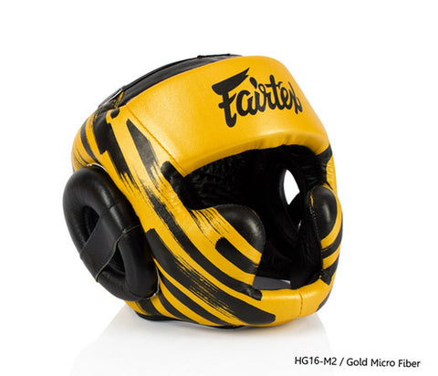Fairtex HG16-M2 New Gold Head Guard