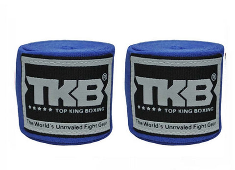 Top King Muay Thai Hand Wraps Blue TKHWR01