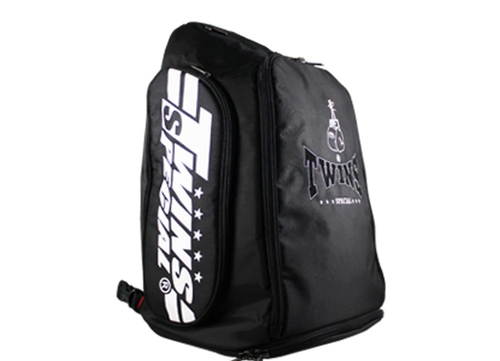 Kết quả hình ảnh cho Twins Special Backpack Gym Bag Bag-5 Black Boxing Equipment Muay Thai MMA K1 Kickboxing