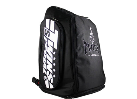 Twins Special Kick Boxing K1 Muay Thai MMA Black Gym Backpack BAG5