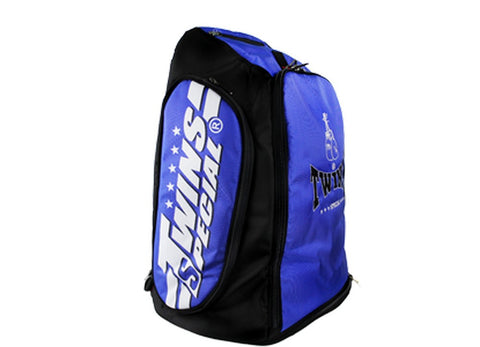 Twins Special Kick Boxing K1 Muay Thai MMA Blue Gym Backpack BAG5