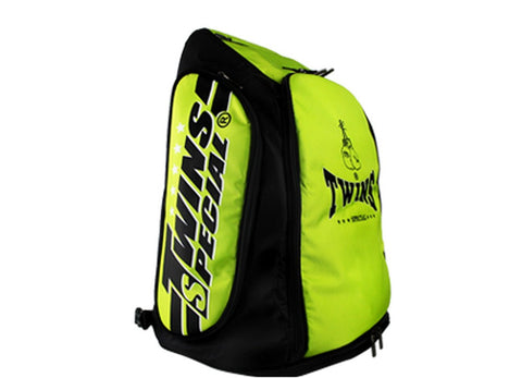 Twins Special Kick Boxing K1 Muay Thai MMA Green Gym Backpack BAG5