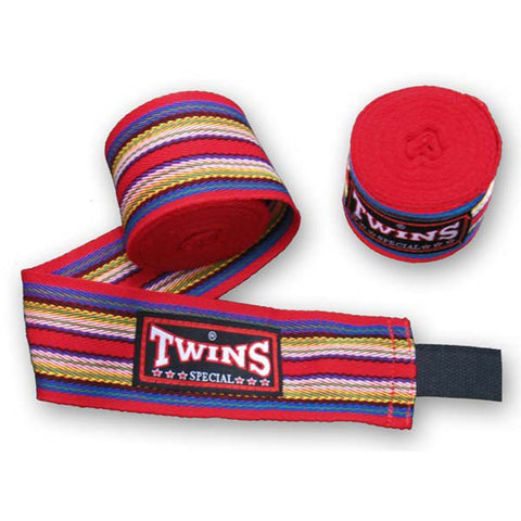 Twins Special Muay Thai Hand Wraps Red CH2