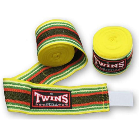 Twins Special Muay Thai Hand Wraps Yellow CH2