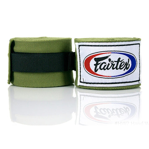 Fairtex Elastic Cotton Handwraps Green HW2