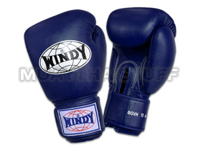 Windy Amateur Boxing Gloves Blue genuine leather BGVH