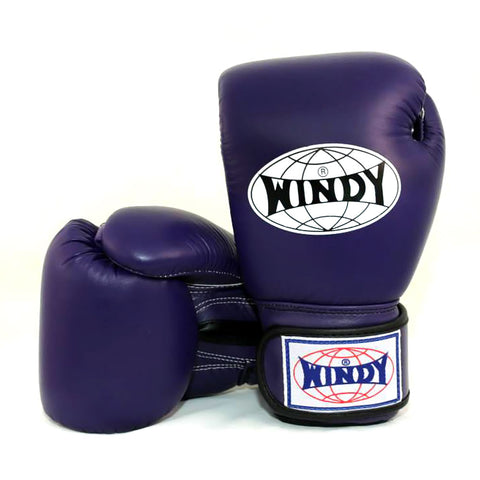 Windy Boxing Gloves Purple genuine leather BGVH