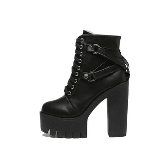 GOTHIC HIGH HEEL BOOTS - DIFTAS - Do It For The Aesthetics