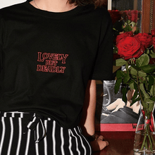 Load image into Gallery viewer, LOVELY BUT DEADLY T-SHIRT - DIFTAS - Do It For The Aesthetics
