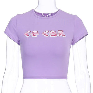 ARTISY PURPLE CROP TOP - DIFTAS - Do It For The Aesthetics