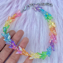 Load image into Gallery viewer, RAINBOW BUTTERFLY CHOKER