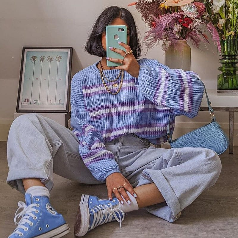 HARAJUKU STRIPE SWEATER