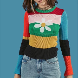 FLOWER KNITTED SWEATER