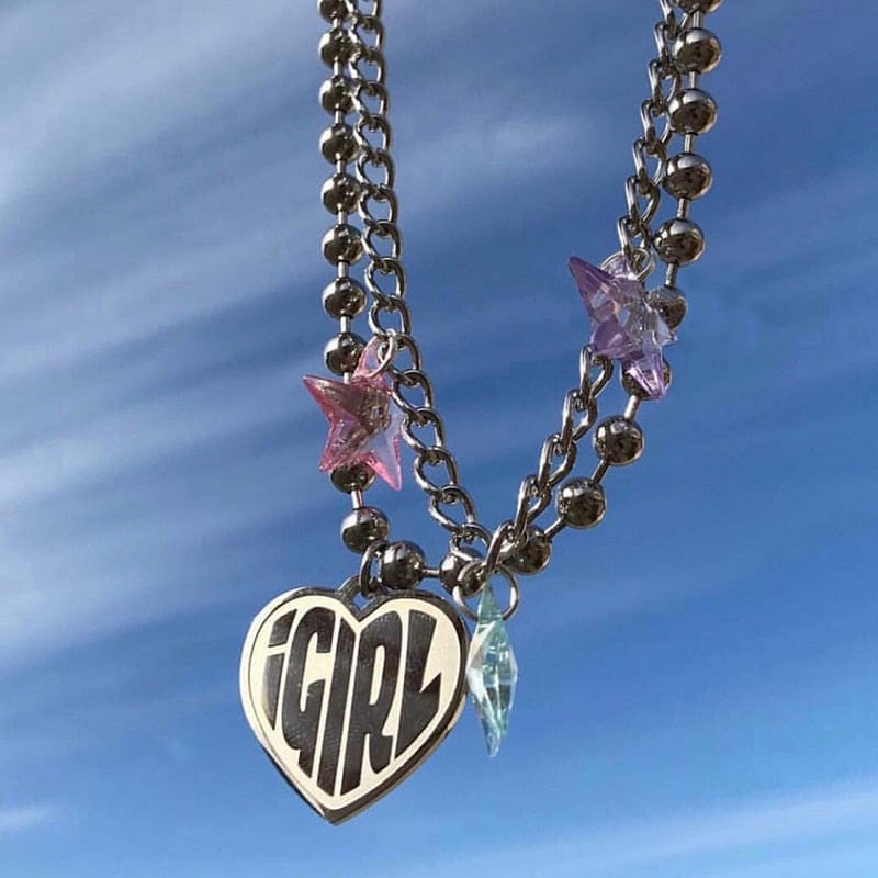 IGIRL HEART NECKLACE - DIFTAS - Do It For The Aesthetics