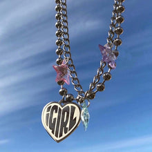 Load image into Gallery viewer, IGIRL HEART NECKLACE - DIFTAS - Do It For The Aesthetics