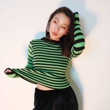 Load image into Gallery viewer, NEON STRIPE SWEATER