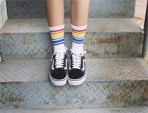 RAINBOW STRIPE SOCKS - DIFTAS - Do It For The Aesthetics