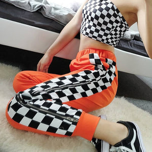 CHECKERED ZIPPER TROUSER - DIFTAS - Do It For The Aesthetics