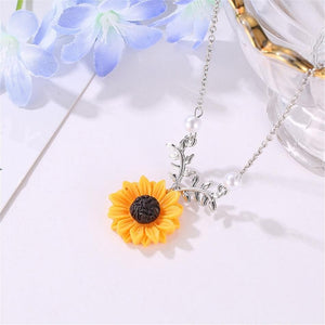 SUNFLOWER NECKLACE - DIFTAS - Do It For The Aesthetics