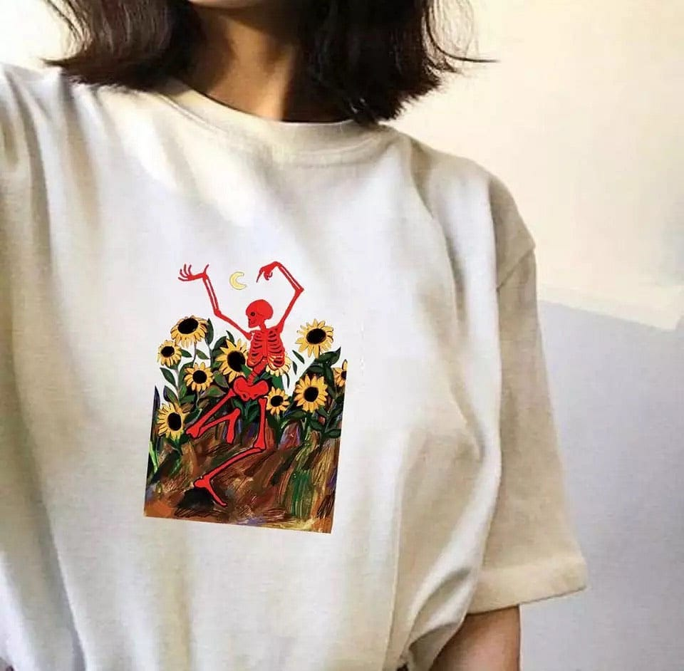 DANCING SKELETON TEE - DIFTAS - Do It For The Aesthetics
