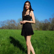 Load image into Gallery viewer, GOTH BLACK DRESS