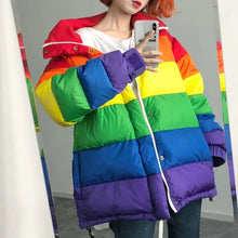 Load image into Gallery viewer, RAINBOW PUFFER JACKET